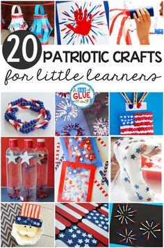 Summertime means camping and celebrating America! I'm excited to share with you some of the very best patriotic crafts for little learners. These crafts are the perfect way to introduce patriotism to the little learners in you life!