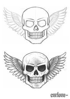 In this lesson, The Drawing Tutor demonstrates how to draw a skull with wings. Learn how to start the composition, refine your linework, and add shadow to create a truly striking pencil drawing.