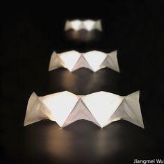 Folded Light Art by Jiangmei Wu #paper #lighting #interiordesign #deco #diyideas