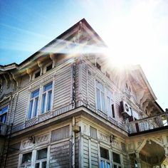 Sunny Naantali and wooden houses