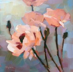 """Daily Paintworks - """"Poppies"""" - Original Fine Art for Sale - © Katia Kyte"""