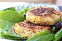 Sweet Corn Quinoa Cakes - Vegan