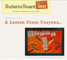 Adventures of an Art Teacher: Bulletin Board Ideas