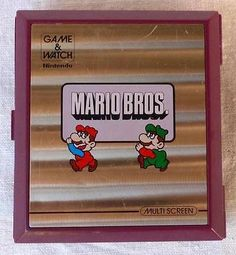 JAPAN NINTENDO 1983 MARIO BROS GAME & WATCH Model No MW-56 MULTI SCREEN WORKING in Toys & Hobbies,Games,Electronic Games | eBay