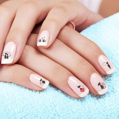 Top 32 Chic Black Cat Manicure Nails To Try Pretty And Modern Black Cat Nail Art Designs Ideas Cat appearance lovely and cute. sometimes folks like to have cats as their pets, i personally own a stunning cat and she or he is de facto keen on Cat Nail Art, Animal Nail Art, Cat Nails, Nail Tip Designs, Acrylic Nail Designs, Acrylic Nails, Nails Design, Art Designs, French Nail Art