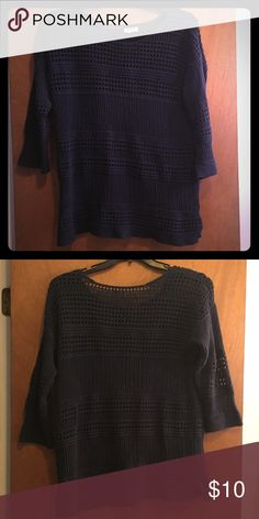 Dark Navy Sweater Great condition! Top size tag is ripped off, but the bottom tag says XL Old Navy Sweaters Crew & Scoop Necks