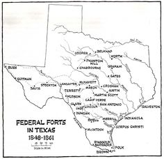 Federal Forts in Texas 1848-1861