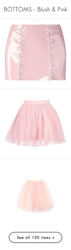 """BOTTOMS - Blush & Pink"" by lynesse ❤ liked on Polyvore featuring skirts, bottoms, short skirts, pink patent leather skirt, patent leather skirt, patent skirt, pink skirt, tie-dye skirt, mini skirts and pants"