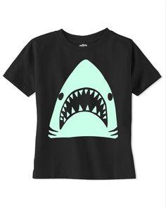 GLOW in THE DARK shark tshirt,  baby t shirt, toddler t shirt, funny kids t shirts, t shirts for boys,black tshirt, kids clothes,baby onsie,