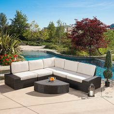 Christopher Knight Home San Vicente Outdoor 6-piece Aluminum Sofa Set with Sunbrella Cushions - Overstock Shopping - Big Discounts on Christopher Knight Home Sofas, Chairs & Sectionals