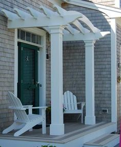 Front Entry Pergola - Even a modestly-scaled front entrance porch is enhanced…
