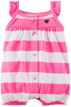 Carter's Baby Girls' Striped Romper