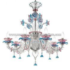 """""""Nada"""" Murano glass chandelier - #Murano #Muranoglass #chandeliers"""
