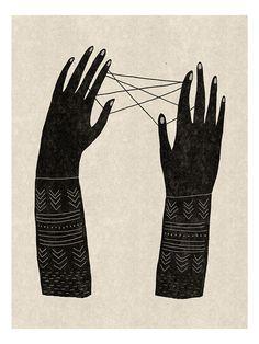 Jeu de ficelle - Mathilde Aubier ART + GRAPHIC DESIGN + ILLUSTRATION