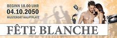 Moderne #feteblanche Werbebanner jetzt günstig online kaufen #bannerdruck #bannerbedruckt #kostenloseauswahl #banner #werbebanner #bannerdesign #bannerlayout #bannervorlage