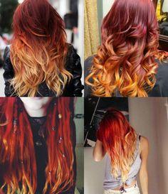 Fire Ombré Hair: o ruivo tendência!    por Bruna Tavares | Pausa para feminices       - http://modatrade.com.br/fire-ombr-hair-o-ruivo-tend-ncia
