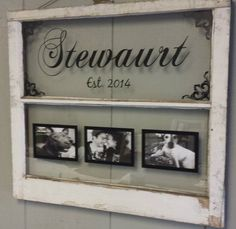 window pane picture frame diy - Google Search