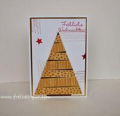 StampinUp! Tanennbaum, Washi Tape, Big Shot - Wimpel, Georgeous Grunge, Weihnachten, Wunderbare Weihnachtsgrüße
