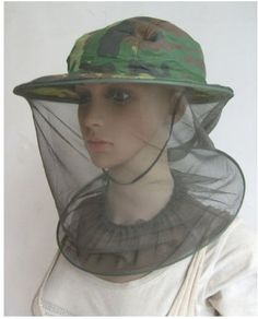 Camouflage Mosquito Hat with Head Net Mesh - Malaria net. (Free Mosquito repellent). Bug Hat / Insect hat repels bugs from face. Mosquitoes Hat has mosquito netting protecting face and head from insects (mosquitoes, bees, gnats, etc.) ONE SIZE FITS MOST Mosquito Netting Hat. by Mosquito Net Hat for Head - Generic. $5.99. Usage: Fishing Hat, Camping Hat, Hiking Hat or Hunting Hat / Malaria net!. Steel ring base. Fully adjustable chin strap (optional to use).. Helps protect aga...