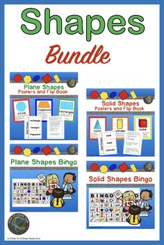 Teaching shapes to kindergarteners and first graders has never been easier! This money-saving geometry bundle includes four resources: posters and flipbooks for plane shapes, posters and flipbooks for solid shapes, bingo for plane shapes, and bingo for so Teaching First Grade, Teaching Kindergarten, Teaching Resources, Teaching Ideas, Mad Science, Stem Science, Science Lessons, Plane Shapes, Teaching Shapes