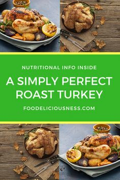 Looking for some  Roast turkey recipe, Thanksgiving Recipes, Thanksgiving turkey recipes ? I've got a collection here of the best Thanksgiving Dinner: A Simply Perfect Roast Turkey - #RoastTurkeyRecipe, #ThanksgivingRecipes, #ThanksgivingTurkeyRecipes  @foodeliciousness Thanksgiving Dinner Recipes, Thanksgiving Turkey, Holiday Recipes, Holiday Foods, Preparing A Turkey, Perfect Roast Turkey, Side Dishes For Chicken, Roast Turkey Recipes, Whole Turkey