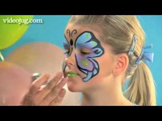 Face painting is one of the most fun and popular activities on the children's party circuit today. Here's how to paint a beautiful, full-face butterfly.    For 1000's more How-To videos visit: http://www.videojug.com    To become a fan of VideoJug on Facebook, click here: http://www.facebook.com/pages/VideoJug/52180051352