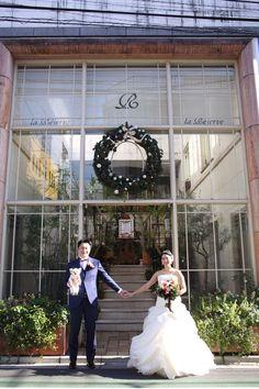 White by Vera Wang trumpet organza wedding dress