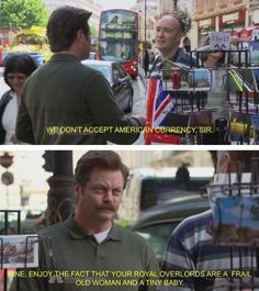 """Nothing Screams """"Happy Birthday, America!"""" More Than A Dump Of Ron Swanson Quotes - CheezCake - Parenting Parks And Rec Memes, Parks And Recs, Parks And Recreation, Ron Swanson Quotes, Parks Department, Happy Birthday America, Looks Cool, Best Shows Ever, Man Crush"""