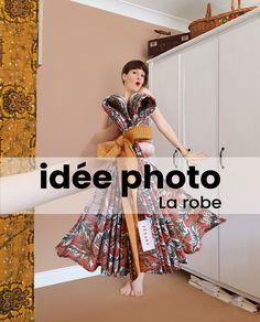 Tutoriel vidéo pour réaliser une photo créative avec une robe foulard. DIY facile. la mode créative sezane
