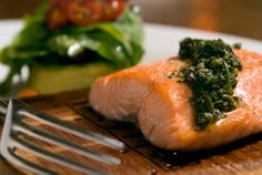 SALMON WITH PESTO ~ If your family doesn't like salmon, feel free to substitute it with halibut, haddock or Arctic char.