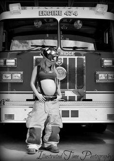 Firefighter Pregnancy Announcement, Newborn Firefighter, Firefighter Baby Showers, Female Firefighter, American Firefighter, Firefighter Wedding, Newborn Pictures, Maternity Pictures, Pregnancy Photos