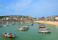 Boats in the harbour at St Ives in Cornwall. Photo / vencavolrab78 - 123RF