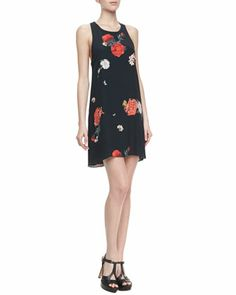 Liz Castaway Floral-Print Tunic Dress at CUSP.