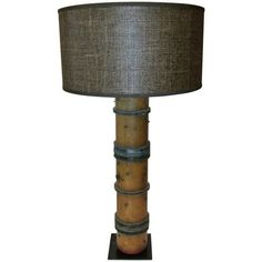 Decorative French wallpaper roller lamp with a custom shade and base. Was originally used as a wallpaper roller. It's since been made into a lamp. Recently rewired.Measure: The shade is D. Small Lamps, Old Lamps, Unique Lamps, Indian Lamps, Wallpaper Roller, French Wallpaper, Christmas Lamp, Contemporary Table Lamps, Modern Table