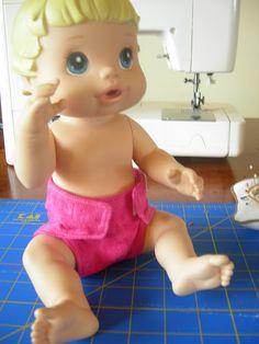 Baby Alive Diaper Tutorial