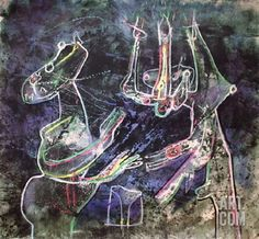 Mes Dessins Serigraph by Roberto Matta at Art.com