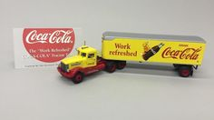 "Matchbox 10.5"" Coca Cola WORK REFRESHED Tractor Trailer DYM38050 w/Box & COA"
