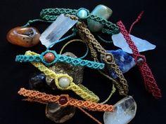 Macramé Fr (3)(Bracelet chaînes avec des accessoires) = Atelier gratuit - YouTube