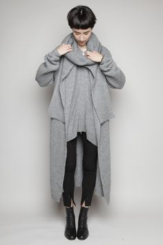 3.1 PHILLIP LIM, LONG COAT CARDIGAN