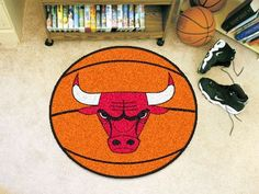 The Chicago Bulls Basketball Shaped Mat by FanMats
