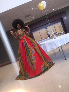 18-year-old Kyemah McEntyre designed a prom dress is anything but typical. The New Jersey resident, inspired by her African heritage, had a local seamstress from Markell's Closet hand-sew the dress from McEntyre's sketch. She explained the motivation behind her dress on Instagram and Twitter