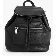 Boohoo Lydia Zip Detail Rucksack ($30) ❤ liked on Polyvore featuring bags, backpacks, black, shopping bag, backpack crossbody bag, holiday bags, crossbody backpack and envelope clutch bag