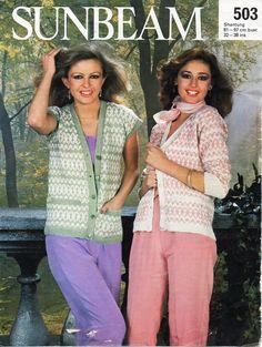 Vintage ladies waistcoats knitting pattern PDF DK womens ...