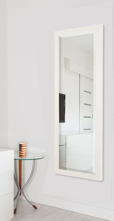American Made Rayne Glossy White Full Body Mirror Size - or ~Suggested Retail~ Closet Bedroom, Dream Bedroom, Bedroom Decor, Bedroom Ideas, Tall Mirror, Mirrors, Full Body Mirror, Cute Room Ideas, Modern Bedroom Design
