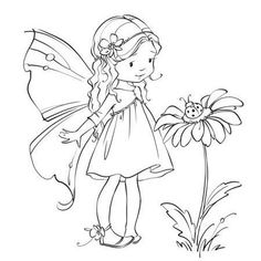 Fairy coloring page Fairy Coloring Pages, Adult Coloring Pages, Coloring Books, Kids Coloring, Fairy Drawings, Cute Drawings, Fairy Art, Digital Stamps, Doodle Art