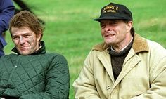 Malcolm Craddock, right, with Sean Bean on the set of Sharpe in 1995.