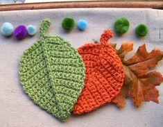 Crochet Mask, Crochet Dragon, Crochet Bear, Crochet Home, Irish Crochet, Diy Crochet, Double Crochet, Crochet Leaf Free Pattern, Crochet Leaves
