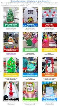 Click to See All our Holiday and Winter Fun! http://www.carnivalsavers.com/winter-carnival/winter-holiday-and-christmas-carnival-game-ideas.html