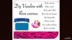 Vaseline without chemicals Heal Cracked Heels, Plucking Eyebrows, Chapped Lips, Rose Water, Vaseline, Dry Skin, Lip Balm, Serum, Beauty Hacks