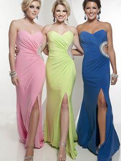 Sheath/Column Sweetheart Chiffon Green Long Prom Dresses/Evening Dress With Beading #FC411